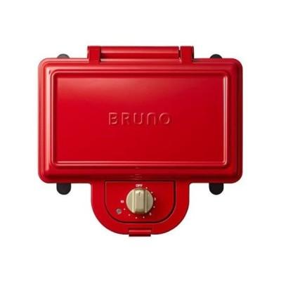 ブルーノ BRUNO ホットサンドメーカー 耳まで焼ける 電気 ダブル レッド BOE044-RD (レッド ダブル)