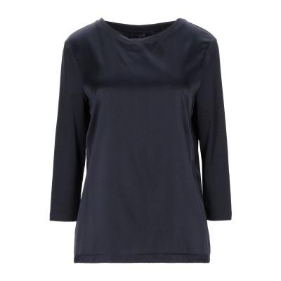 LAURÈL T シャツ ダークブルー 36 シルク 94% / ポリウレタン 6% / レーヨン / コットン T シャツ