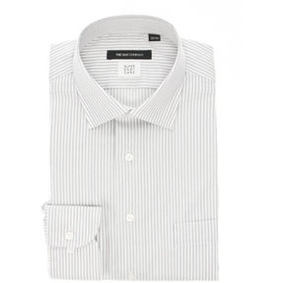 【SUPER EASY CARE・再生繊維】ワイドカラードレスシャツ ストライプ〔EC・BASIC〕