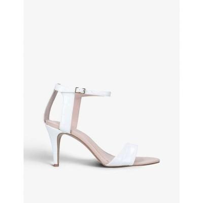 カーベラ CARVELA レディース サンダル・ミュール シューズ・靴 Kollude crocodile-embossed leather sandals WHITE