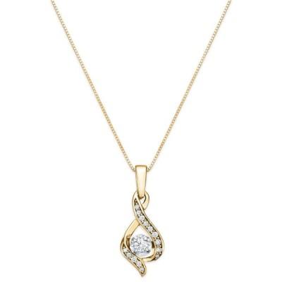 """メイシーズ Macy's レディース ネックレス Diamond Teardrop 18"""" Pendant Necklace in 14k White Gold, Yellow Gold and Rose Gold (1/8 ct. t.w.)"""