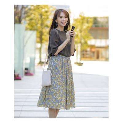【インデックス/index】 割繊プリーツフラワースカート【WEB限定サイズ】