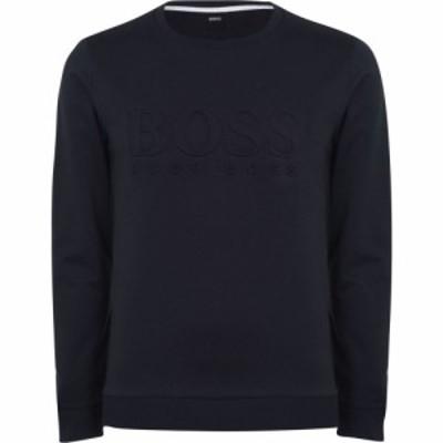 ヒューゴ ボス BOSS BODYWEAR メンズ スウェット・トレーナー トップス Hertitage Logo Crew Sweatshirt Navy