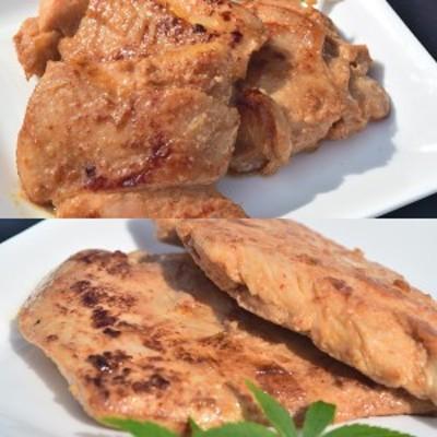 送料無料 国産那須どり味噌漬け(もも肉3枚・むね肉3枚入り600g)【那珂川町名産品】国産地鶏 鶏肉 ギフト