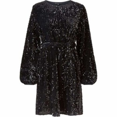 メラ ロンドン Mela London レディース ワンピース ワンピース・ドレス Sequin Belted Dress Black
