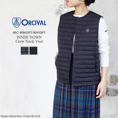 オーシバル オーチバル インナーダウン クルーネックベスト レディース メンズ ORCIVAL INNER DOWN CrewNeck Vest LADIES MENS 20FW #RC-8086DPT/8095DPT 〔SK〕