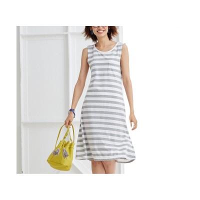 ノースリーブボーダーワンピース (ワンピース)Dress