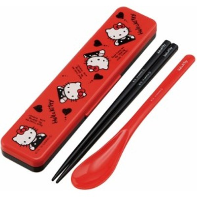 ハローキティ 45th 80年代 コンビセット サンリオ キャラクター CCS3SA 音の鳴らない 箸&スプーン 箸 はし スケーター 4973307445910