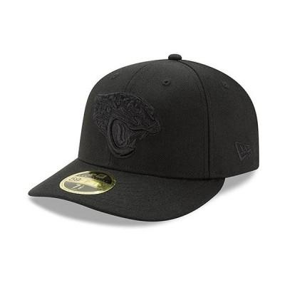 ユニセックス スポーツリーグ フットボール Jacksonville Jaguars New Era Black On Black Low Profile 59FIFTY Fitted Hat 帽子