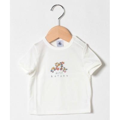 【プチバトーアウトレット】 プリント半袖Tシャツ キッズ ホワイト 24ヶ月86cm(24mois) PETIT BATEAU OUTLET