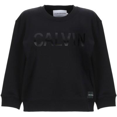 YOOX - CALVIN KLEIN JEANS スウェットシャツ ブラック M コットン 100% スウェットシャツ