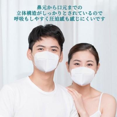 KN95マスク 100枚 マスク KN95 N95マスク同等 5層構造 平ゴム 使い捨てマスク 使い捨て 白 大きめ 立体マスク 女性用 男性用 大人用 不織布マスク