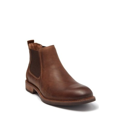 フローシャイム メンズ ブーツ&レインブーツ シューズ Chalet Plain Toe Leather Chelsea Boot BROWN CH