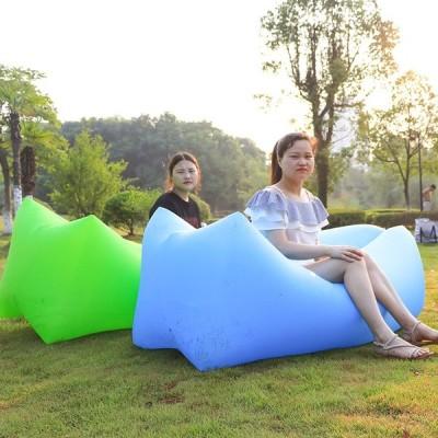 送料無料 キャンプマットチェック柄ピクニック Beack マット毛布折りたたみ登る屋外インフレータブルソファ怠惰なバッグエアソファビーチベッドジャー椅