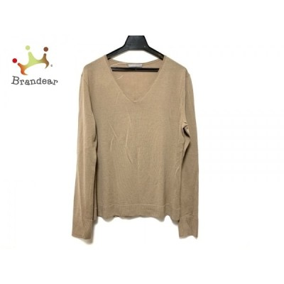 セオリーリュクス theory luxe 長袖セーター サイズ38 M レディース 美品 - ブラウン Vネック 新着 20210129