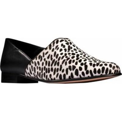 クラークス レディース スリッポン・ローファー シューズ Women's Clarks Pure Tone Slip-On Black/White Combi Leather