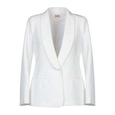 EMMA テーラードジャケット ホワイト S ポリエステル 77% / レーヨン 20% / ポリウレタン 3% テーラードジャケット