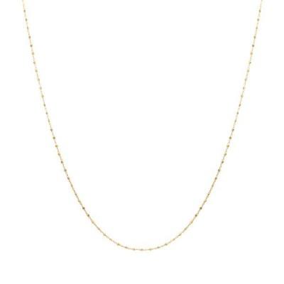 K18イエローゴールドロングネックレス(60cm)