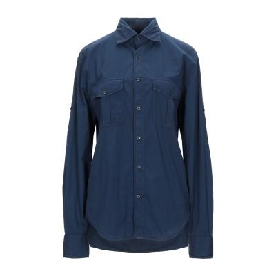 CARLO CHIONNA シャツ ブルー 44 コットン 97% / ポリウレタン 3% シャツ