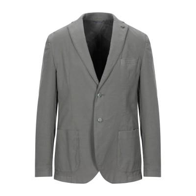 マニュエル リッツ MANUEL RITZ テーラードジャケット ミリタリーグリーン 52 コットン 97% / ポリウレタン 3% テーラードジャ