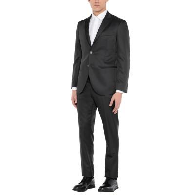 1911 LUBIAM CERIMONIA スーツ ブラック 48 ポリエステル 54% / ウール 46% スーツ
