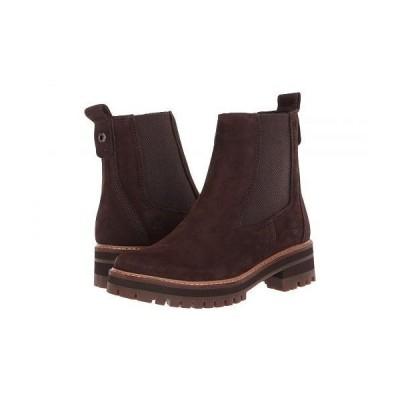 Timberland ティンバーランド レディース 女性用 シューズ 靴 ブーツ チェルシーブーツ アンクル Courmayeur Valley Chelsea - Dark Brown Nubuck