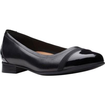 クラークス Clarks レディース スリッポン・フラット バレエシューズ ハンチング シューズ・靴 Un Blush Cap Ballet Flat Black /Combo