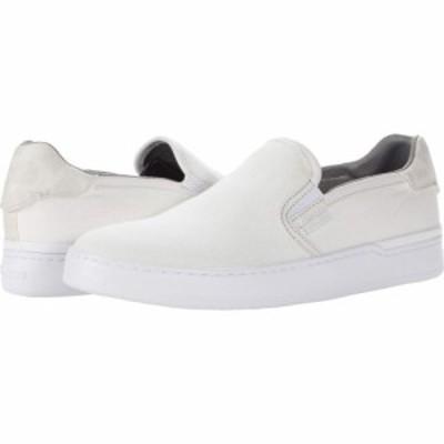 コーチ COACH レディース スリッポン・フラット シューズ・靴 Walker Slip-On Optic White Canvas