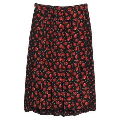 ヌメロ ヴェントゥーノ N°21 7分丈スカート ブラック 46 シルク 100% 7分丈スカート