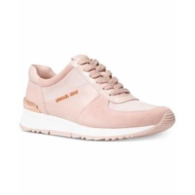 Michael Kors マイケルコルス スポーツ用品 シューズ Michael Kors MK Womens Allie Trainer Leather Sneakers Shoes Soft Pink