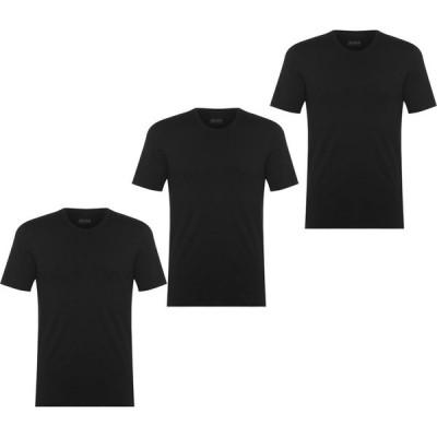 ヒューゴ ボス Boss メンズ Tシャツ 3点セット ロゴTシャツ トップス Three Pack Logo T Shirt Black