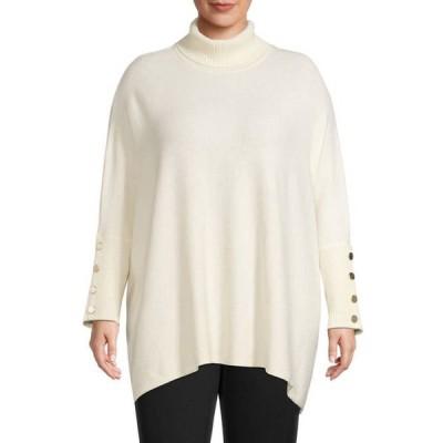 アンクライン レディース ニット・セーター アウター  Plus Size Boucle Drop Shoulder Sweater