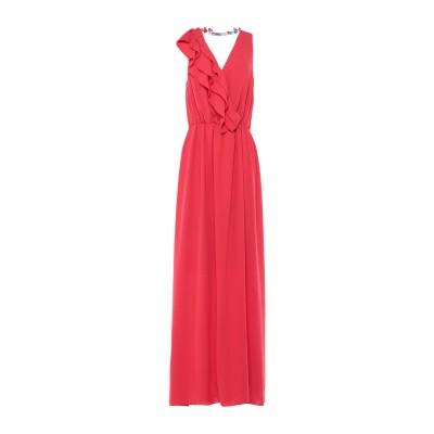 BIANCOGHIACCIO ロングワンピース&ドレス レッド 44 ポリエステル 100% ロングワンピース&ドレス