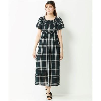 【大きいサイズ】 綿100%Wガーゼロング丈ワンピース ワンピース, plus size dress