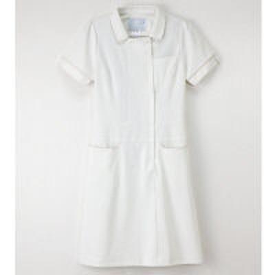 ナガイレーベンナガイレーベン ワンピース ナースワンピース 医療白衣 半袖 オフホワイト L LH-6217(取寄品)