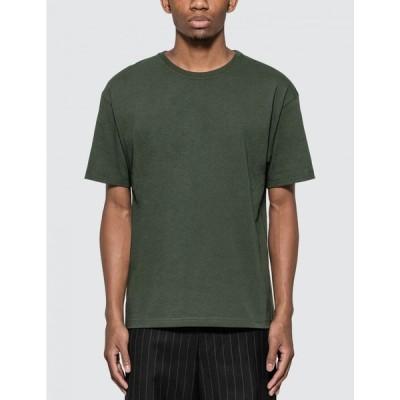 ボッテガ ヴェネタ Bottega Veneta メンズ Tシャツ トップス Basic Logo T-Shirt Pine Green