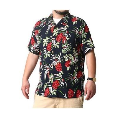 ルーシャット アロハシャツ メンズ おおきいサイズ カジュアルシャツ カジュアル 半袖 シャツ ゆったり おしゃれ 総柄 レーヨン 柄F 4