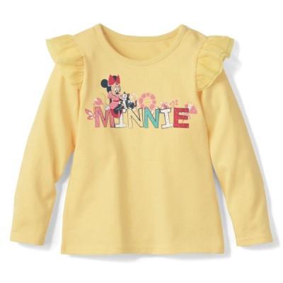 ディズニー 肩フリルTシャツ(選べるキャラクター) ミニーマウス(ロゴ) 90 100 110 120 130 140
