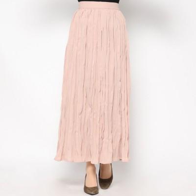 スタイルブロック STYLEBLOCK シフォンワッシャープリーツマキシスカート (ピンク)