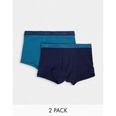 カルバンクライン メンズ トランクス アンダーウェア Calvin Klein 2 pack multi boxer briefs Multi