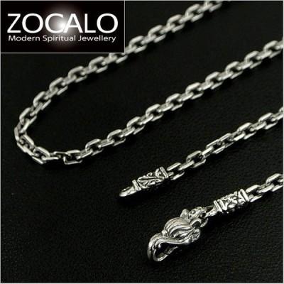 ZOCALO(ソカロ) アンカースクエア・ネックレスチェーン M 50cm/幅3mm シルバー925製 ZZNLS-0004A-50