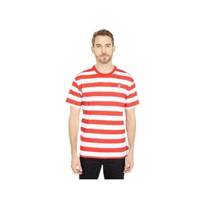 バンズ Vans x Where's Waldo Stripe Pocket Short Sleeve Tee メンズ シャツ トップス (Where's Waldo) White/Racing Red