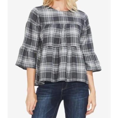 レディース 衣類 トップス Dove Womens Plaid Bell-Sleeve Knit Top XL ブラウス&シャツ