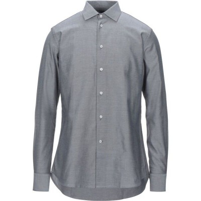 ハマキホ HAMAKI-HO メンズ シャツ トップス solid color shirt Black