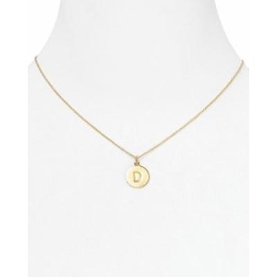 ケイトスペード レディース ネックレス・チョーカー アクセサリー One in a Million Initial Pendant Necklace 18 D/Gold