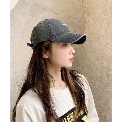FRP / ダメージ加工・シンプルキャップ UV対策 WOMEN 帽子 > キャップ