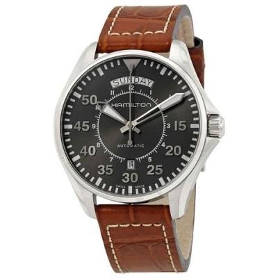 腕時計 ハミルトン メンズ Hamilton Khaki Aviation Automatic Grey Dial Men's Watch H64615585