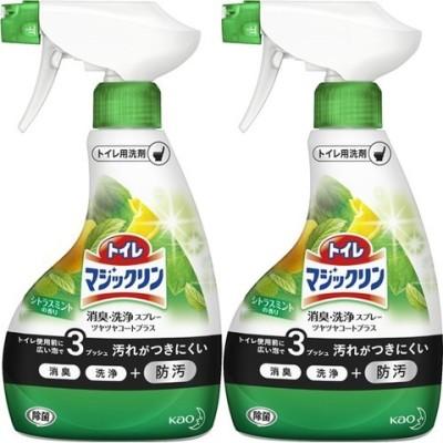 トイレマジックリン トイレ用洗剤 ツヤツヤコート シトラスミント 本体 (380ml*2コセット)