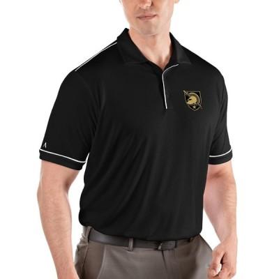 アンティグア ポロシャツ トップス メンズ Army Black Knights Antigua NCAA Salute Polo Black/White