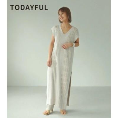 【予約】TODAYFUL トゥデイフル LIFEs ライフズ Randomrib Knit Dress ランダムリブニットドレス 12110320【5月下旬-6月下旬お届け予定